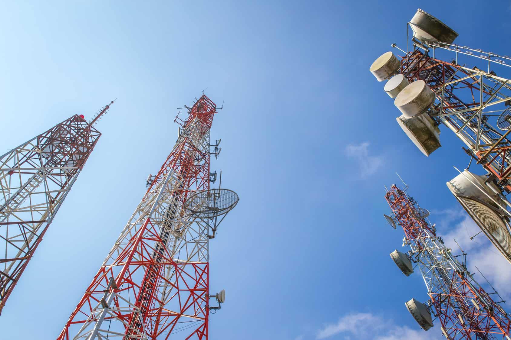 Vista de algunas antenas del Instituto Federal de Telecomunicaciones